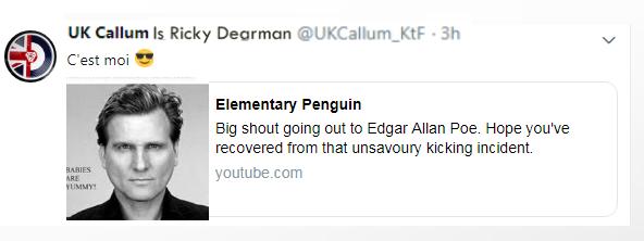 uk callum is ricky dearman